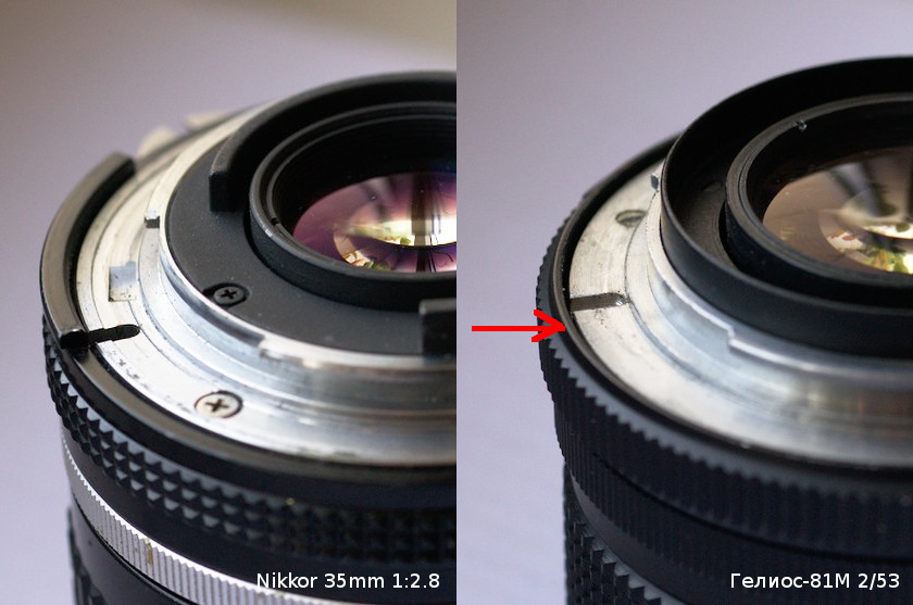 Differences between Nikkor & Helios-81