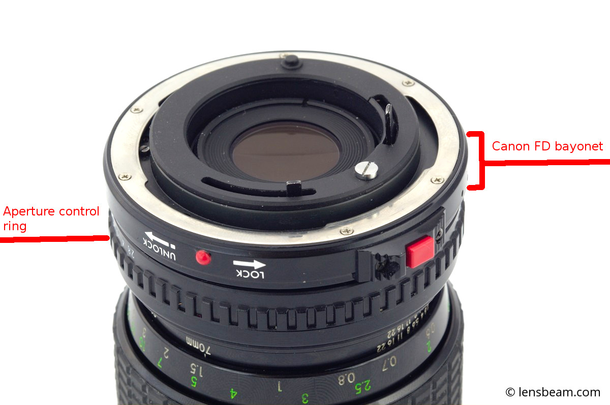 Sigma Zoom-Master f/2.8-4 f=35-70mm adaptation