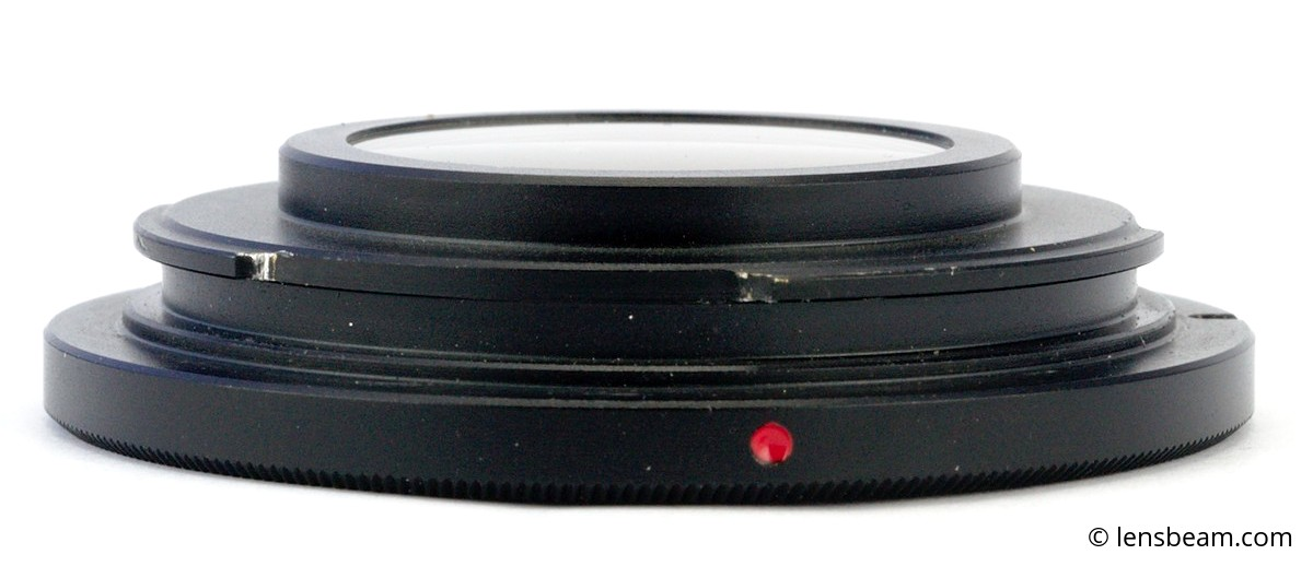 M42-Nikon Adapter Ring with lens