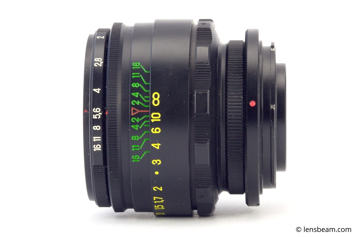 Helios 44-2 and M42-Nikon Adapter Ring with lens