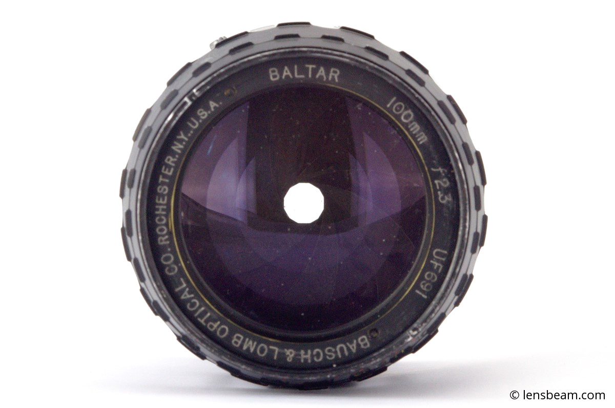 Bausch & Lomb Optical Co. Baltar 100mm f2.3
