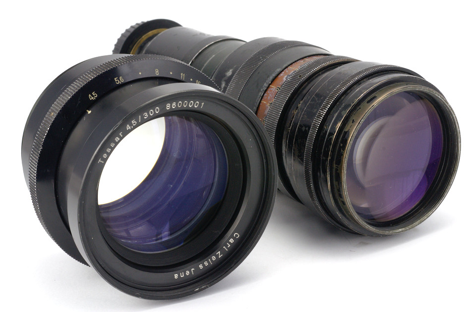 Carl Zeiss Jena Tessar 4,5/300 and Tair-3 4.5/300