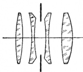 4,5 f=13,5 cm  optical design