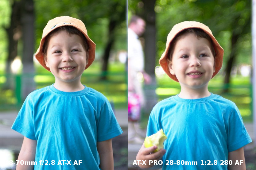 Tokina 28-70mm f/2.8 AT-X AF vs AT-X PRO 28-80mm f/2.8 280 AF bokeh test