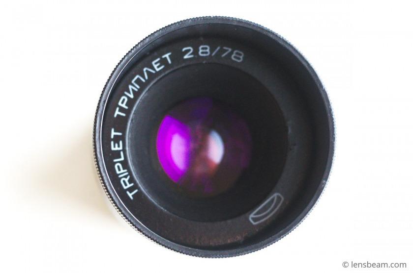 Triplet 2.8/78 adaptation for DSLR camera