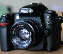 The fitting Helios-81М 2/53 on Nikon cameras