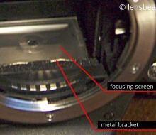 Mounting the Focusing Screen from Old SLR Camera on Nikon D3100